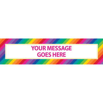 Rainbow Personalized Banner (Each)
