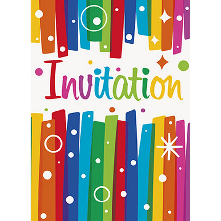 View larger image of Rainbow Ribbons Birthday Invite (8)