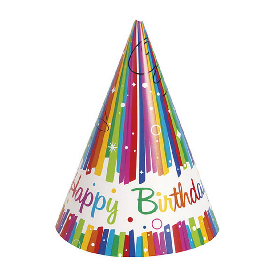 View larger image of Rainbow Ribbons Birthday Party Hat (8)
