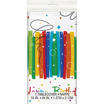 Rainbow Ribbons Birthday Tablecover (1)