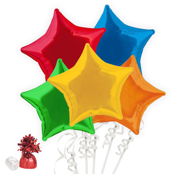Rainbow Star Balloon Bouquet Kit