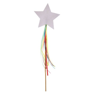 Rainbow Star Sparkly Wands, 8ct