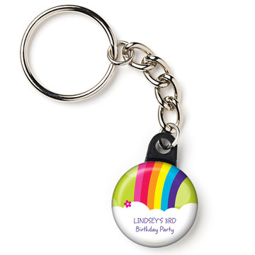 "Rainbow Wishes Personalized 1"" Mini Key Chain (Each)"