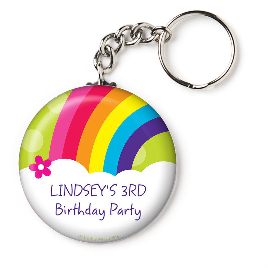 """View larger image of Rainbow Wishes Personalized 2.25"""" Key Chain (Each)"""