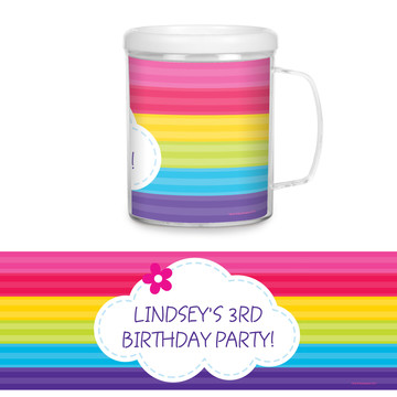 Rainbow Wishes Personalized Favor Mug (Each)
