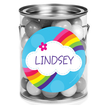 Rainbow Wishes Personalized Mini Paint Cans (12 Count)