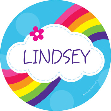 Rainbow Wishes Personalized Mini Stickers (Sheet of 24)