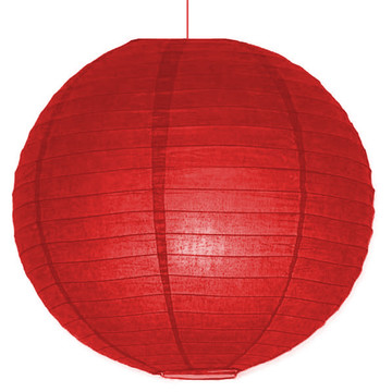 "Red 10"" Paper Lantern Decorations (Each)"