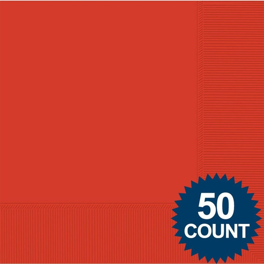 View larger image of Red 2-Ply Luncheon Napkins, 50 ct.