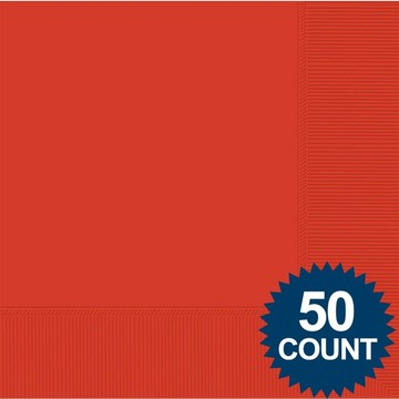 Red 2-Ply Luncheon Napkins, 50 ct.
