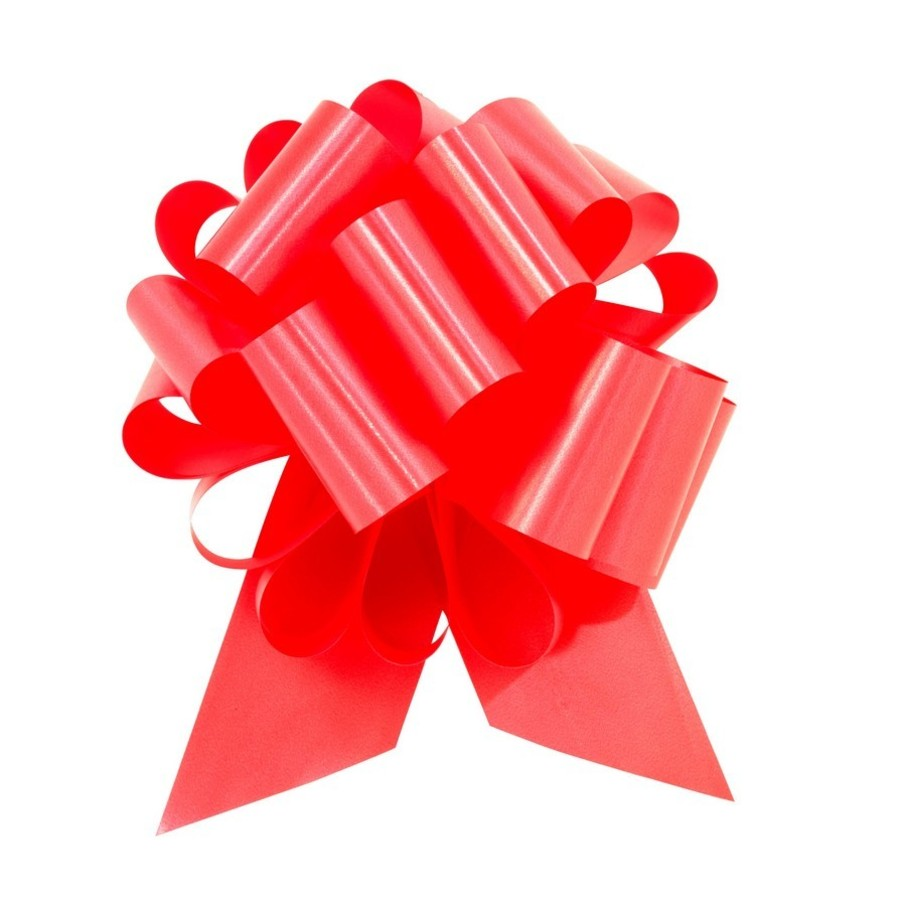 """View larger image of Red 8"""" Pull Bow (10 Count)"""