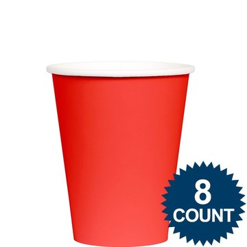 Red 9 oz. Paper Cup, 8ct.