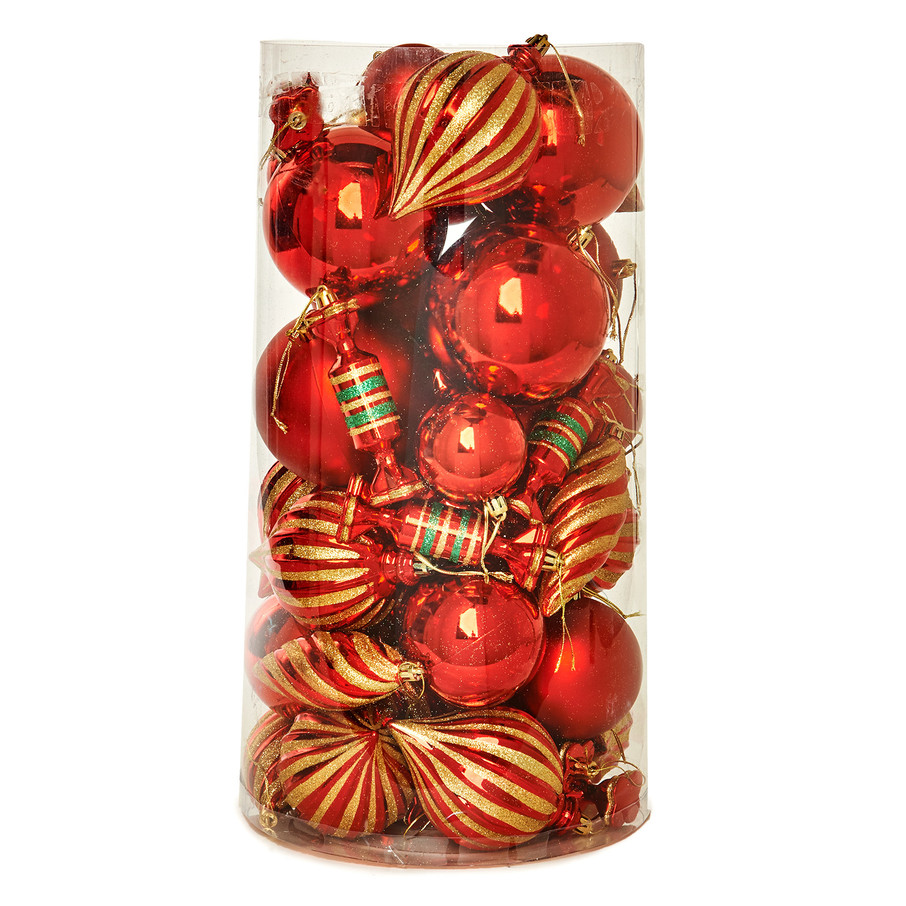 View larger image of Red Assorted Ornament Set (48)