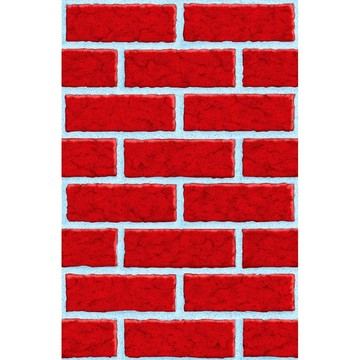 Red Brick Wall Room Roll (Each)