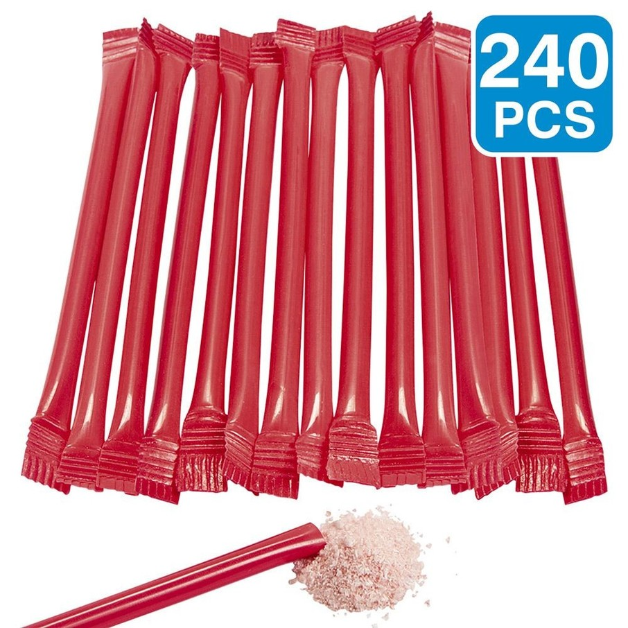 "View larger image of Red Candy Filled 6"" Straws (240 Pack)"