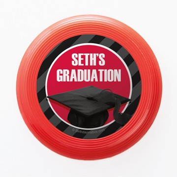 Red Caps Off Graduation Personalized Mini Discs (Set of 12)