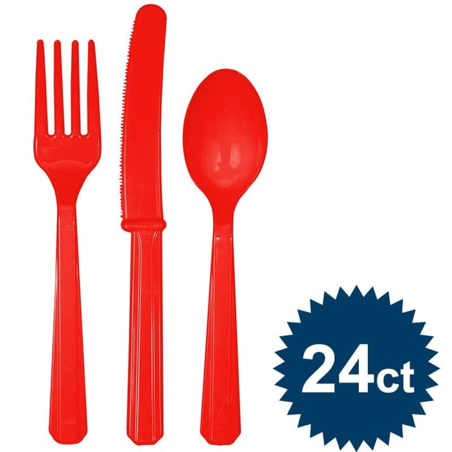 View larger image of Red Cutlery Set