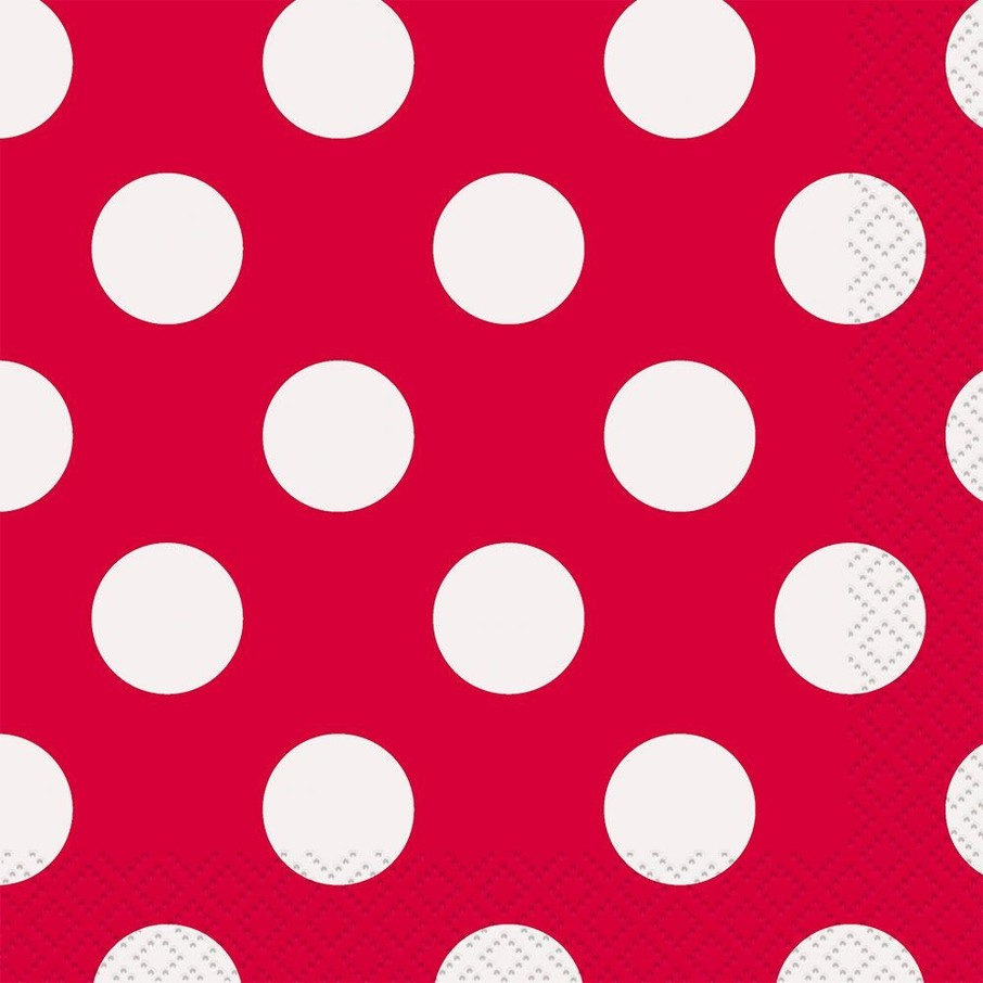 View larger image of Red Dots Beverage Napkins (16 Count)