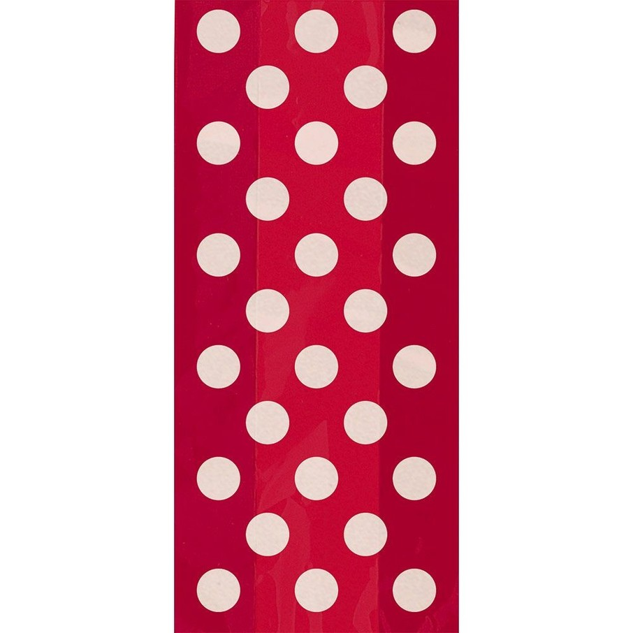 View larger image of Red Dots Cello Favor Bags (20 Pack)