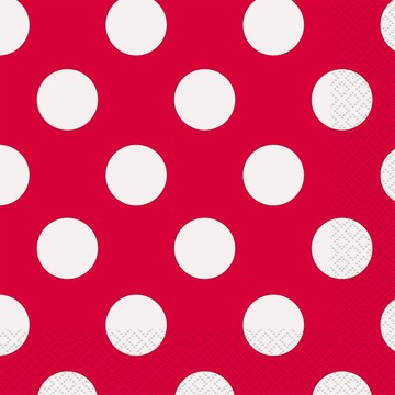 Red Dots Luncheon Napkins (16 Count)