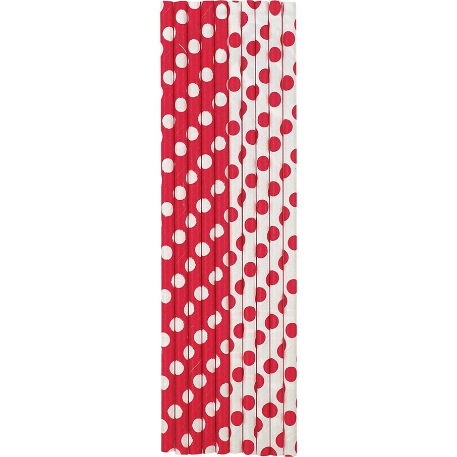 View larger image of Red Dots Paper Straws (10 Count)