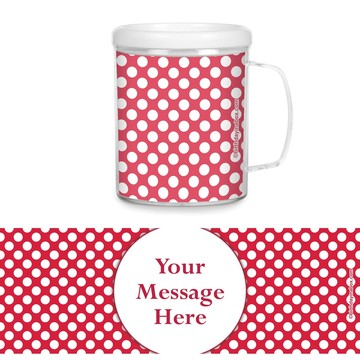 Red Dots Personalized Favor Mugs (Each)