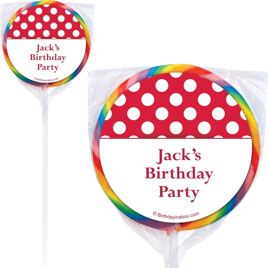 View larger image of Red Dots Personalized Lollipops (12 Pack)