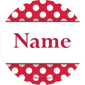 Red Dots Personalized Mini Stickers (Sheet of 24)