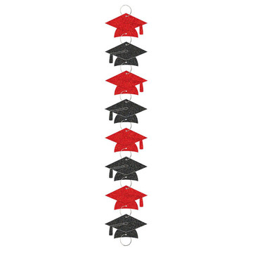 Red Grad 9ft. Ring Garland Decorations (Each)