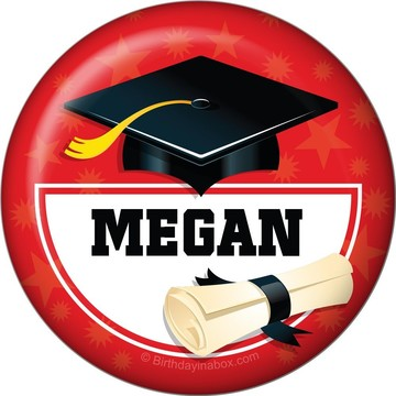 Red Grad Personalized Magnet (Each)
