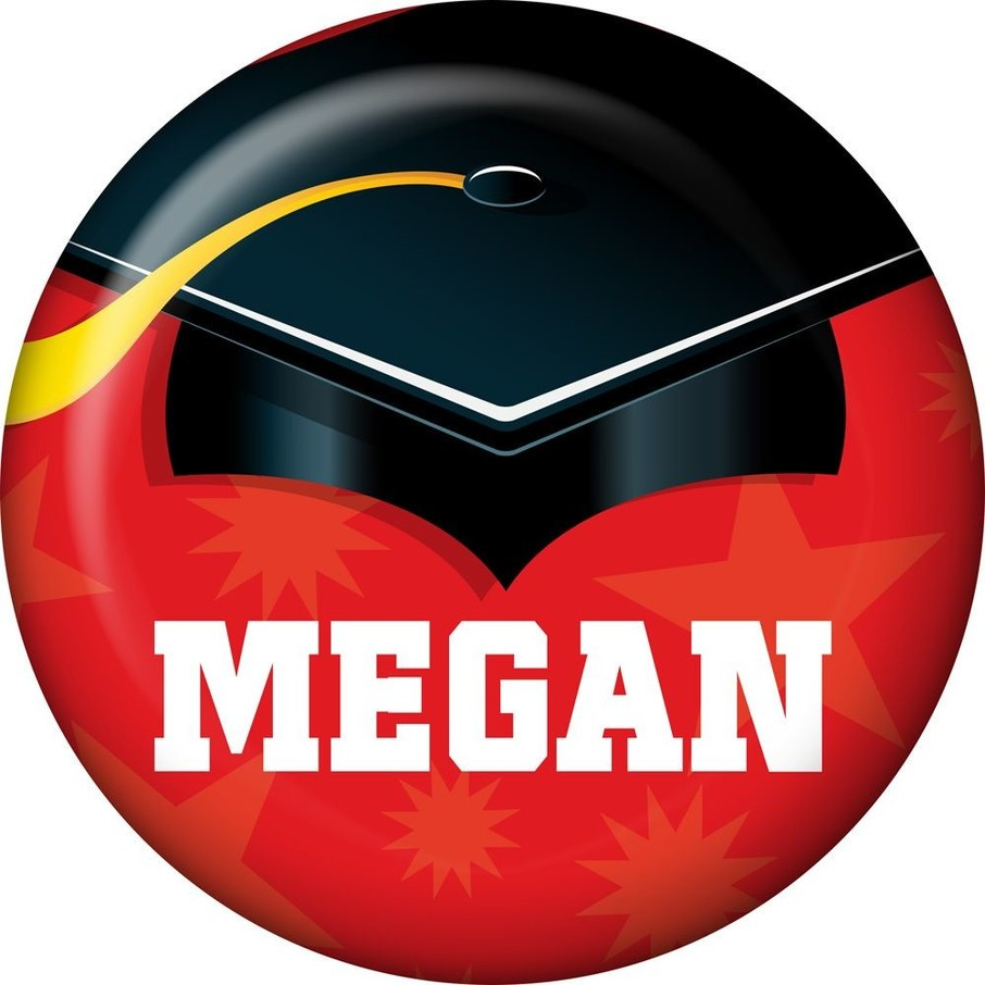 View larger image of Red Grad Personalized Mini Magnet (Each)