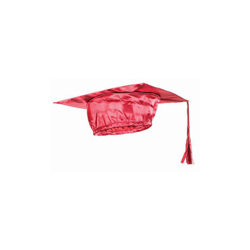 Red Graduation Adult Cap - One-Size