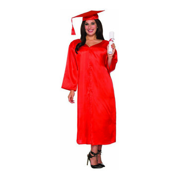 Red Graduation Adult Robe - One-Size