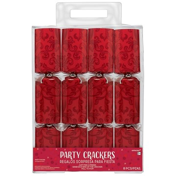 Red Holiday Crackers