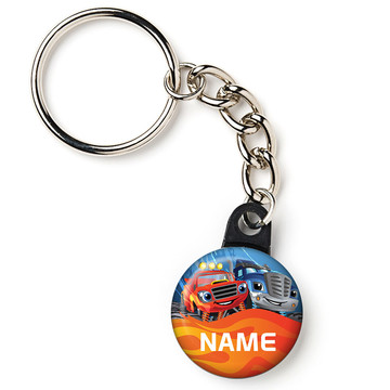 """Red Monster Truck Personalized 1"""" Mini Key Chain (Each)"""