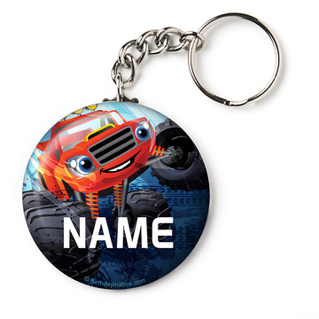 "Red Monster Truck Personalized 2.25"" Key Chain (Each)"