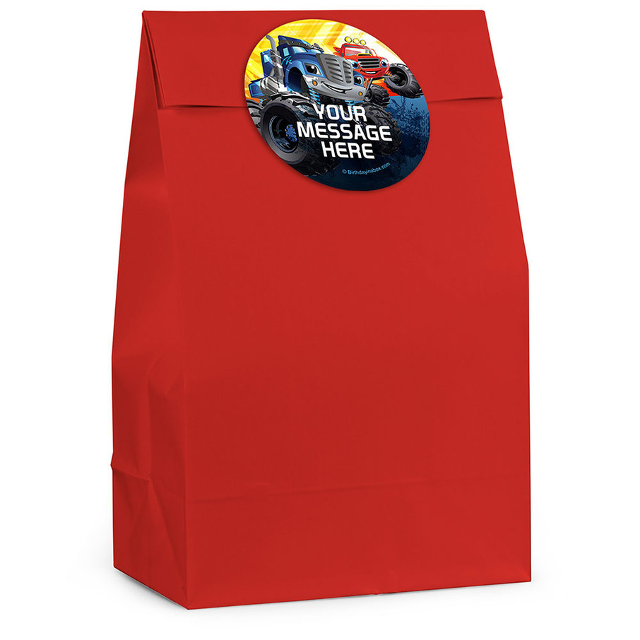 View larger image of Red Monster Truck Personalized Favor Bag (12 Pack)