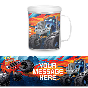 Red Monster Truck Personalized Favor Mug (Each)