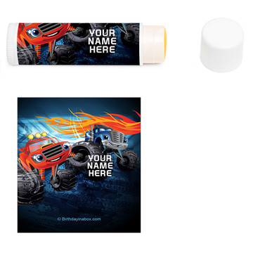 Red Monster Truck Personalized Lip Balm (12 Pack)