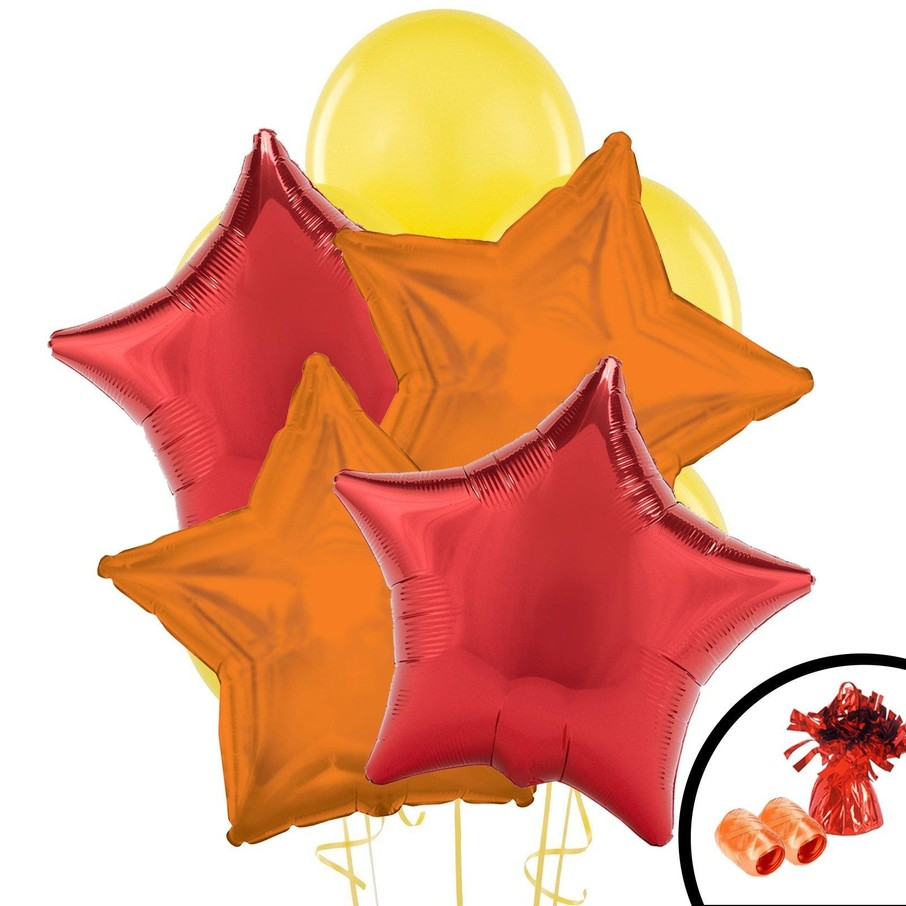 View larger image of Red, Orange, Yellow Balloon Bouquet