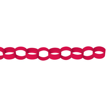 Red Paper Chain Link Garland