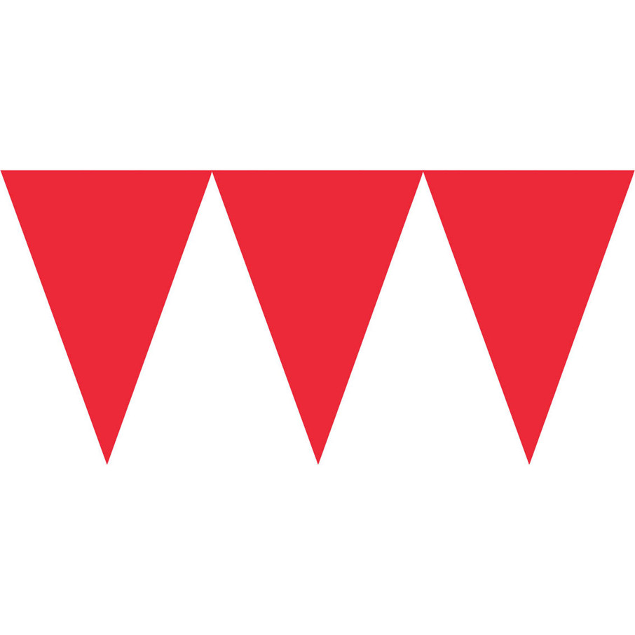 View larger image of Red Paper Pennant Banner