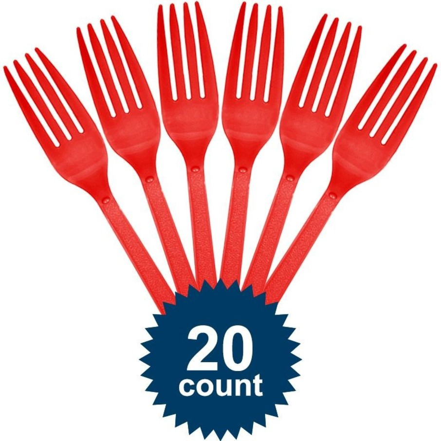 View larger image of Red Plastic Forks