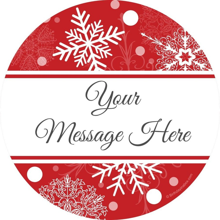 View larger image of Red Snowflake Personalized Stickers (Sheet of 12)