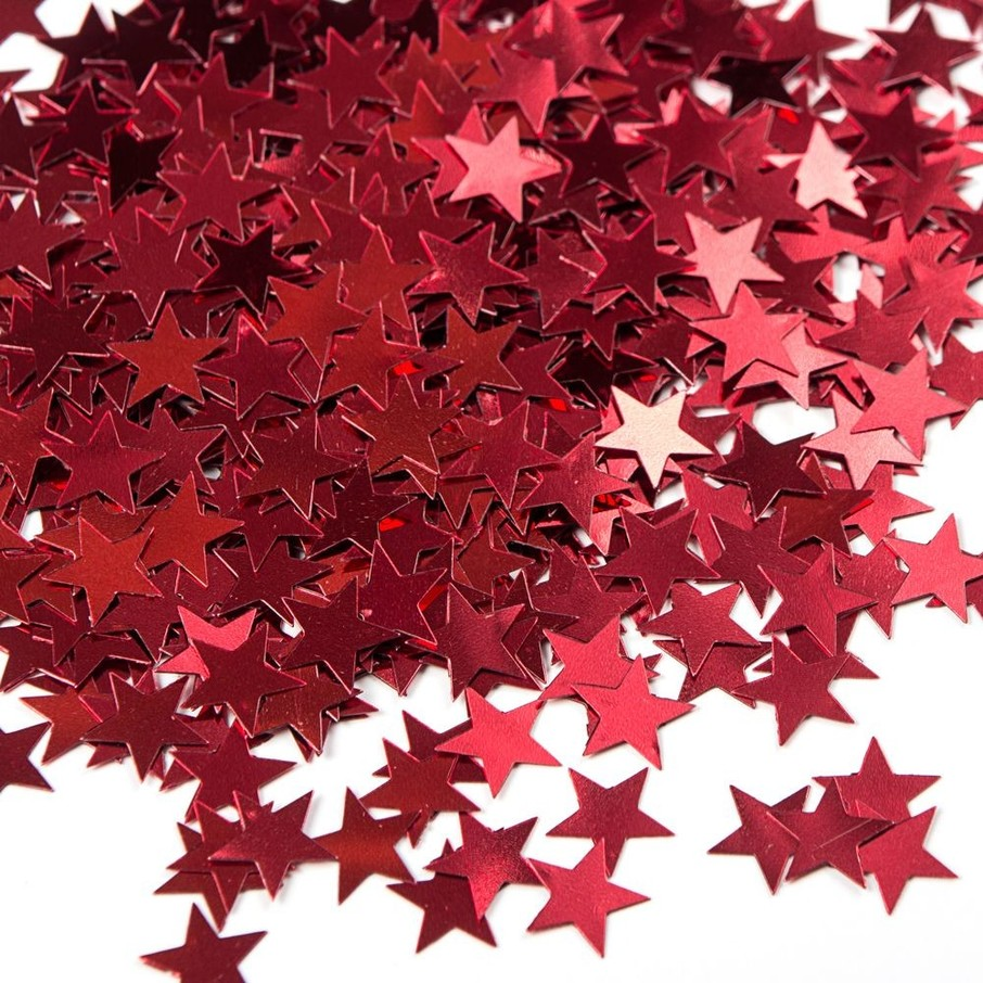 View larger image of Red Stars Foil Confetti .5oz (Each)