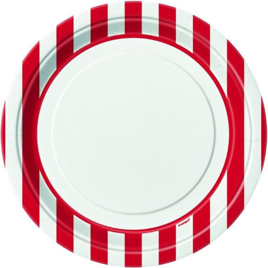 "View larger image of Red Stripe 9"" Luncheon Plates (8 Pack)"
