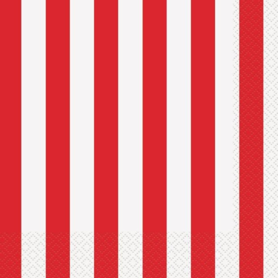 View larger image of Red Stripe Luncheon Napkins (16 Pack)