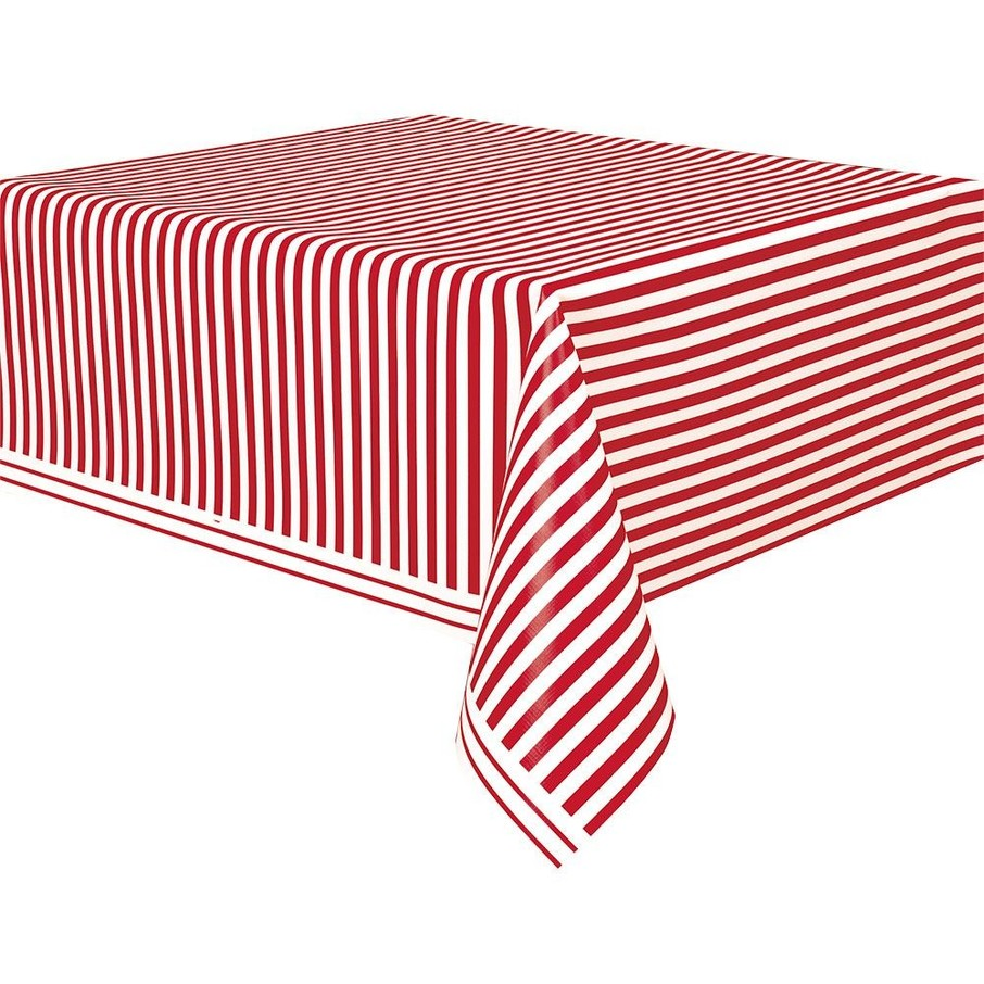 View larger image of Red Stripe Table Cover (Each)