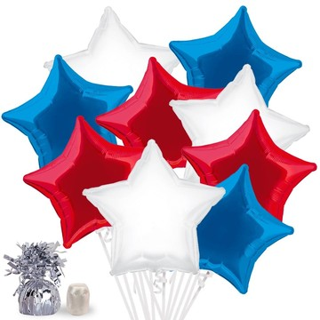 Red, White, and Blue Star Balloon Bouquet Kit