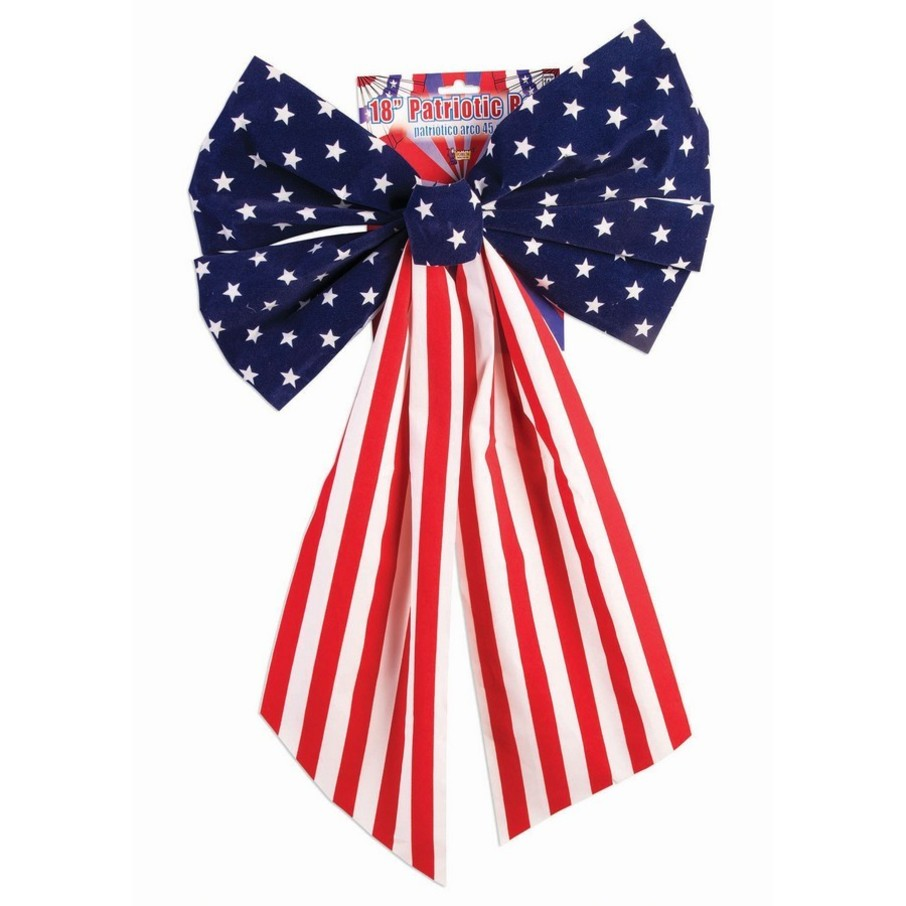 "View larger image of Red, White & Blue 8"" Honeycomb Metallic Bow"